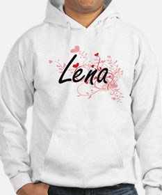 Lena Artistic Name Design with H Hoodie Sweatshirt
