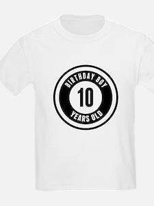 Birthday Boy 10 Years Old T-Shirt