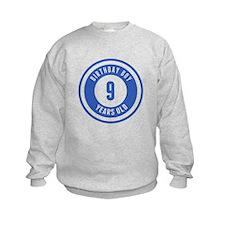Birthday Boy 9 Years Old Sweatshirt