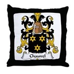 Chauvel Family Crest  Throw Pillow