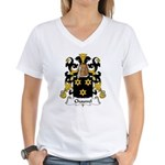 Chauvel Family Crest  Women's V-Neck T-Shirt