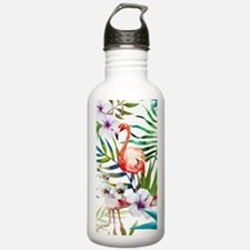 Funny Hawaiian flowers Water Bottle