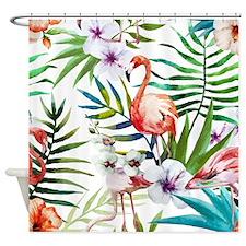 Cute Pink flamingo Shower Curtain