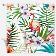 Cute Pink flamingo Shower Curtain