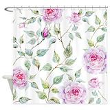 Vintage floral pattern Shower Curtains