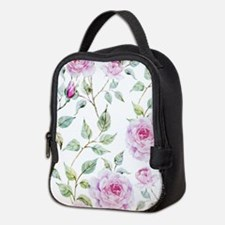 Cute Floral pattern Neoprene Lunch Bag