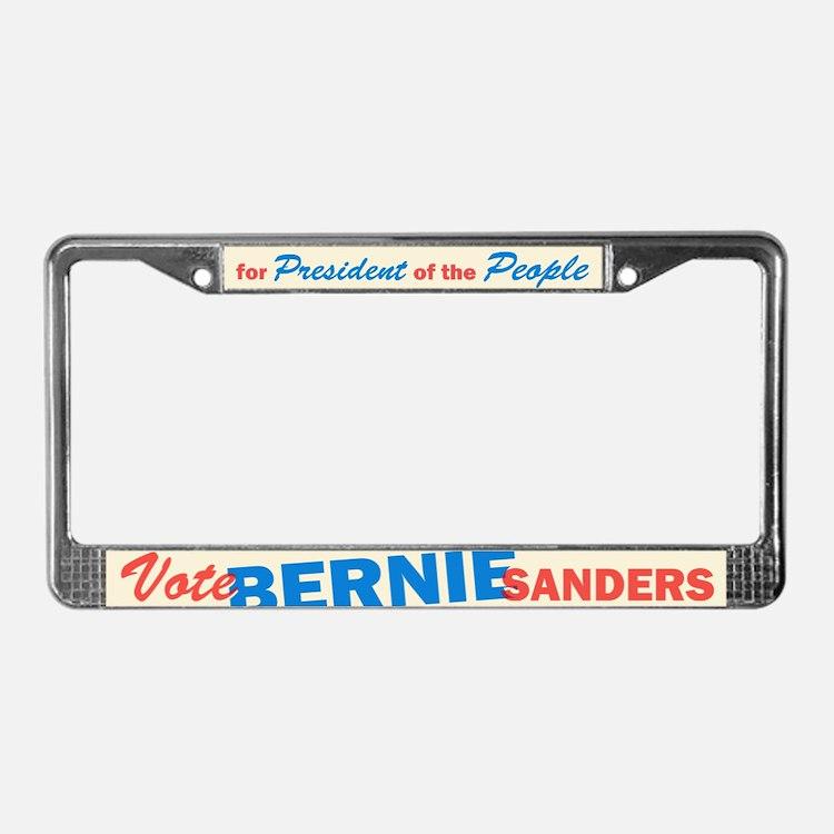 Bernie Sanders for President V License Plate Frame