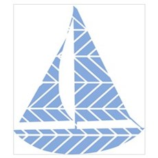 Chevron Sailboat Poster
