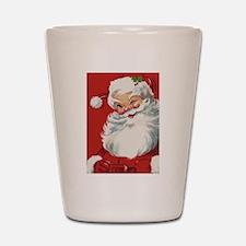 Vintage Christmas Jolly Santa Claus Shot Glass