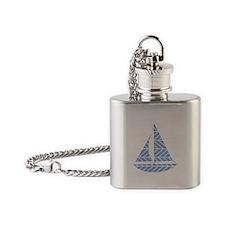Chevron Sailboat Flask Necklace