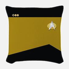 Star Trek: TNG Gold Lt. Cmdr. Woven Throw Pillow