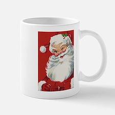 Vintage Christmas Jolly Santa Claus Mugs
