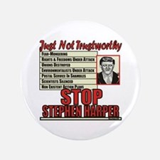 Stop Harper Button