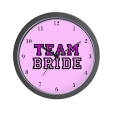 Cute Team bride Wall Clock