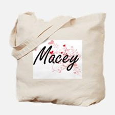 Macey Artistic Name Design with Hearts Tote Bag