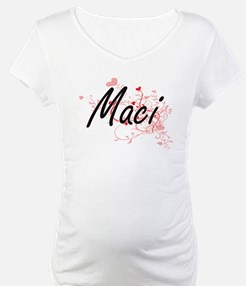 Maci Artistic Name Design with H Shirt