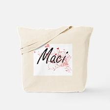 Maci Artistic Name Design with Hearts Tote Bag