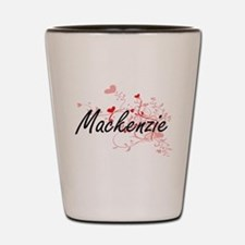 Mackenzie Artistic Name Design with Hea Shot Glass
