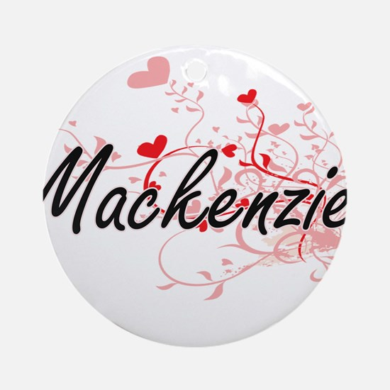 Mackenzie Artistic Name Design wi Ornament (Round)