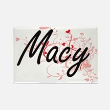 Macy Artistic Name Design with Hearts Magnets