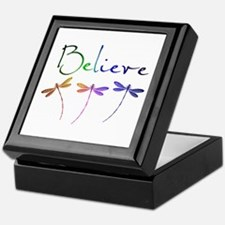 Believe...dragonflies Keepsake Box