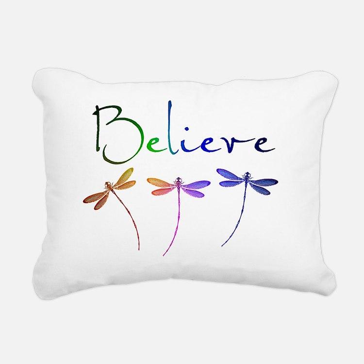 Believe...dragonflies Rectangular Canvas Pillow