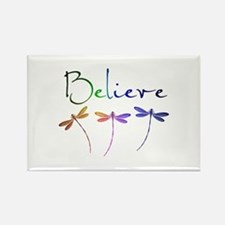 Believe...dragonflies Magnets