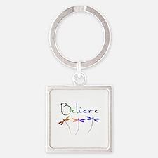 Believe...dragonflies Keychains