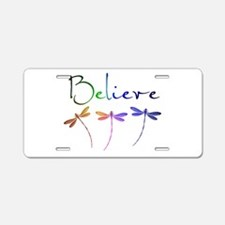 Believe...dragonflies Aluminum License Plate