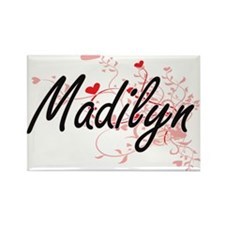 Madilyn Artistic Name Design with Hearts Magnets