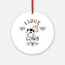 I Love Cows Ornament (Round)