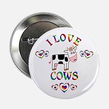 """I Love Cows 2.25"""" Button"""