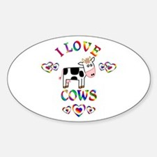 I Love Cows Decal