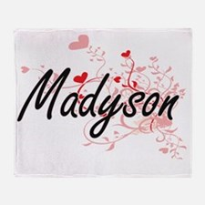 Madyson Artistic Name Design with He Throw Blanket