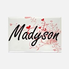 Madyson Artistic Name Design with Hearts Magnets