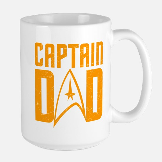 Captain Dad Large Mug