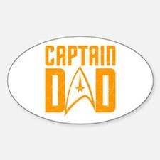 Captain Dad Oval Decal