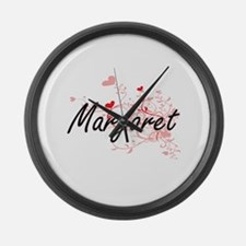 Margaret Artistic Name Design wit Large Wall Clock