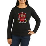 Chaumont Family Crest  Women's Long Sleeve Dark T-