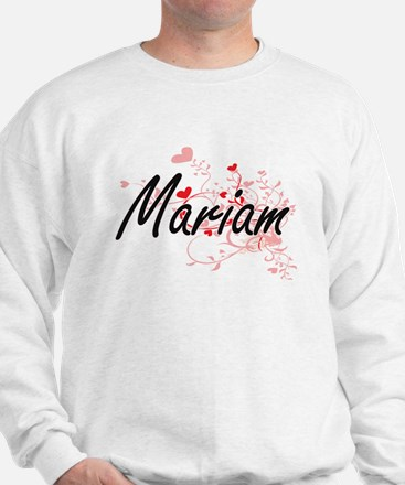 Mariam Artistic Name Design with Hearts Sweater