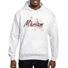 Mariam Artistic Name Design with Hoodie Sweatshirt