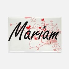Mariam Artistic Name Design with Hearts Magnets