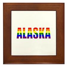 Alaska Gay Pride Framed Tile
