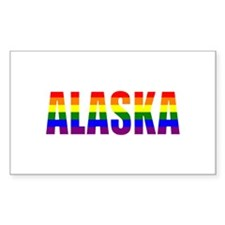 Alaska Gay Pride Rectangle Decal