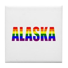 Alaska Gay Pride Tile Coaster
