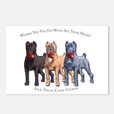 Unique Cane corso mastiff Postcards (Package of 8)