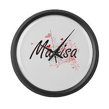 Marisa Artistic Name Design with Large Wall Clock
