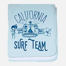 California Surf Team baby blanket