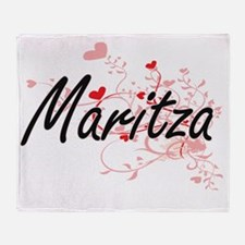 Maritza Artistic Name Design with He Throw Blanket