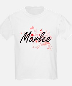 Marlee Artistic Name Design with Hearts T-Shirt